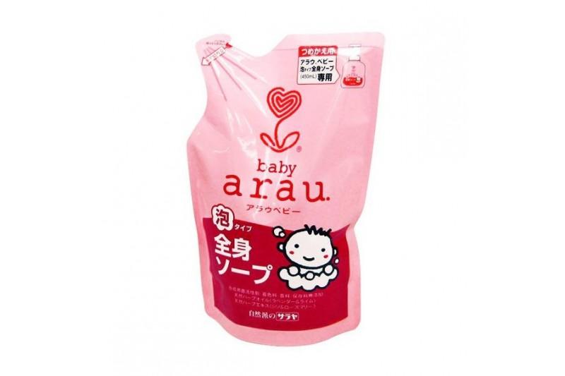 Arau 雅樂寶嬰兒2合1天然泡沫沐浴洗髮露補充裝400毫升