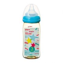 Pigeon 貝親嬰兒PPSU母乳奶瓶240毫升(星星圖案)