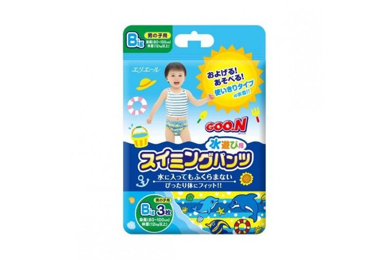 GooN 大王加大碼嬰兒游泳尿片(3片)