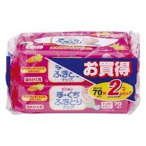 Pigeon 貝親嬰兒手口濕紙巾補充裝70片 x 2包