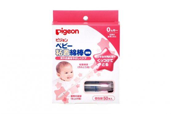 Pigeon 貝親嬰兒粘合棉花棒50支(撩鼻屎)