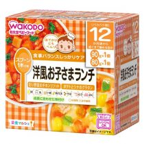 Wakodo Chicken Risotto with Vegetables and Curry Stew with Sardine Balls 12month