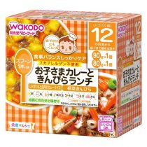 Wakodo Japanese Pilaf with Potato & Beef in Curry Sauce & Kinpira vegetable 12month