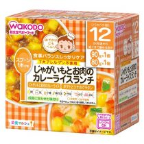 Wakodo Japanese Pilaf with Potato & Beef in Curry Sauce & Tuna bake 12month