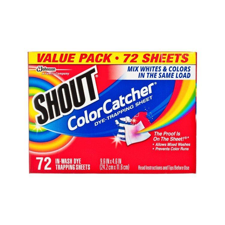 美國Shout Color Catcher 防染色洗衣紙 (72張)