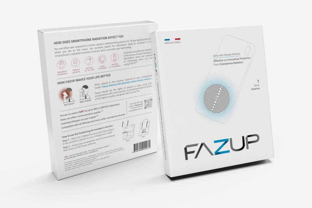 Fazup法國手機防輻射貼(2片裝)4