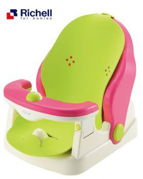 日本RICHELL 座墊式靠背可調節嬰兒浴用椅