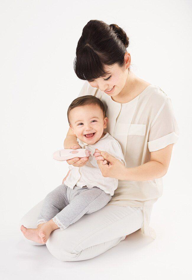 日本COMBI 母嬰兩用電動磨甲器 (粉紅)3