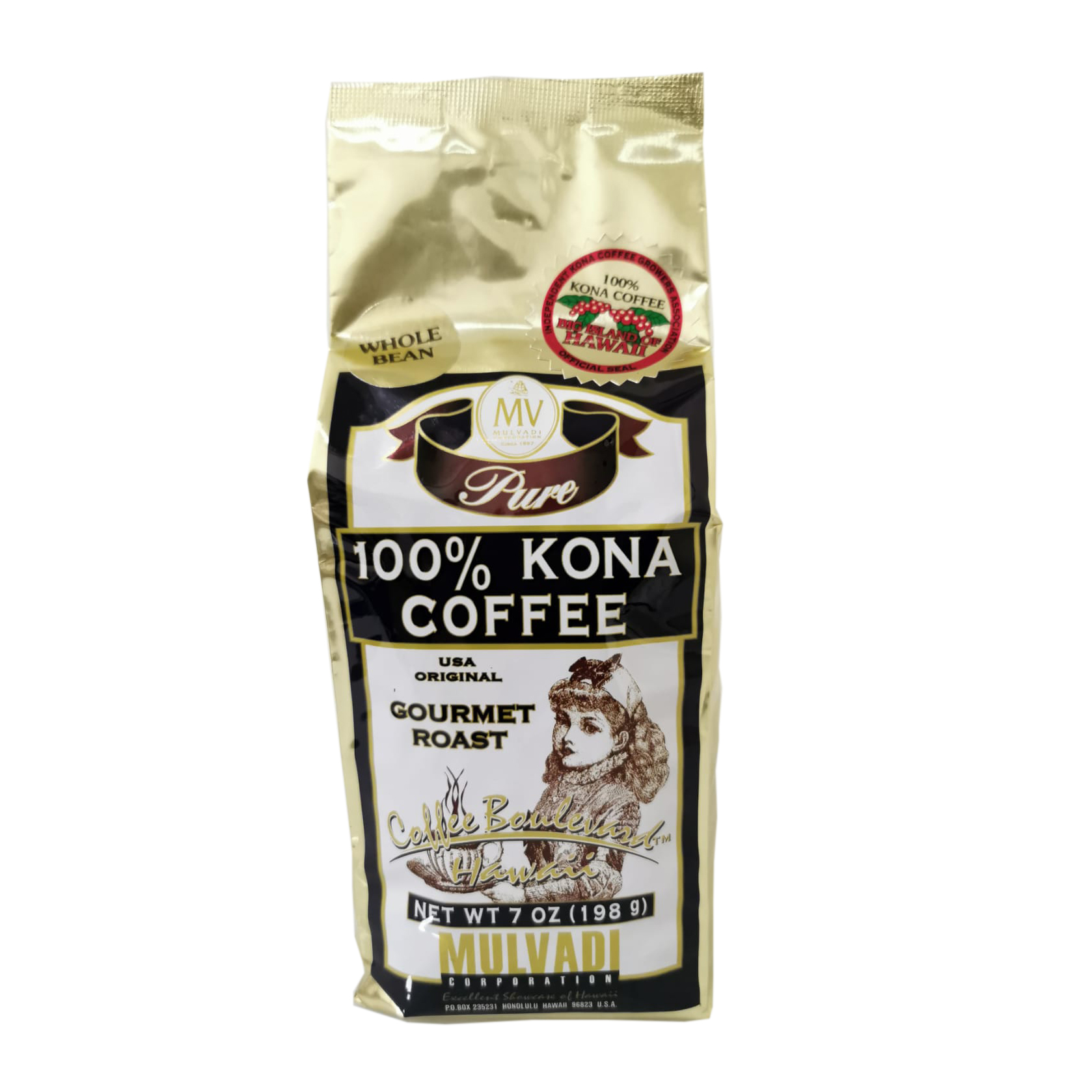 Mulvadi 100% Kona Coffee (7oz/198g)